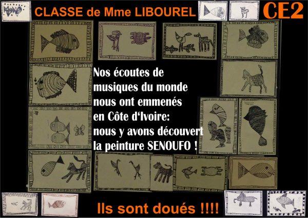 les artistes de CE2, classe de Mme LIBOUREL