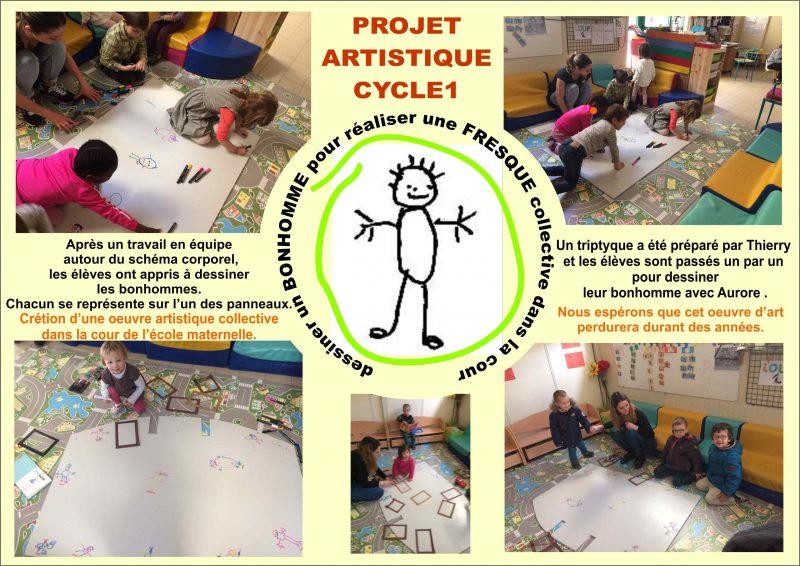 Projet artistique des élèves de maternelles