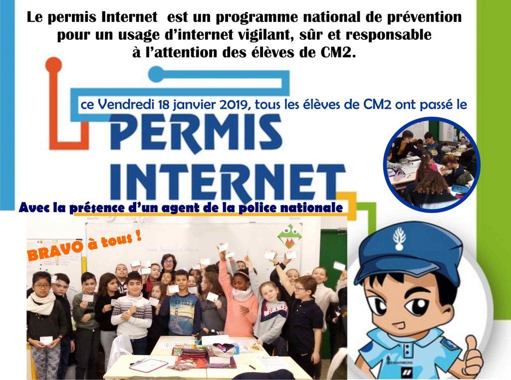 Permis d'internet pour les élèves de CM2