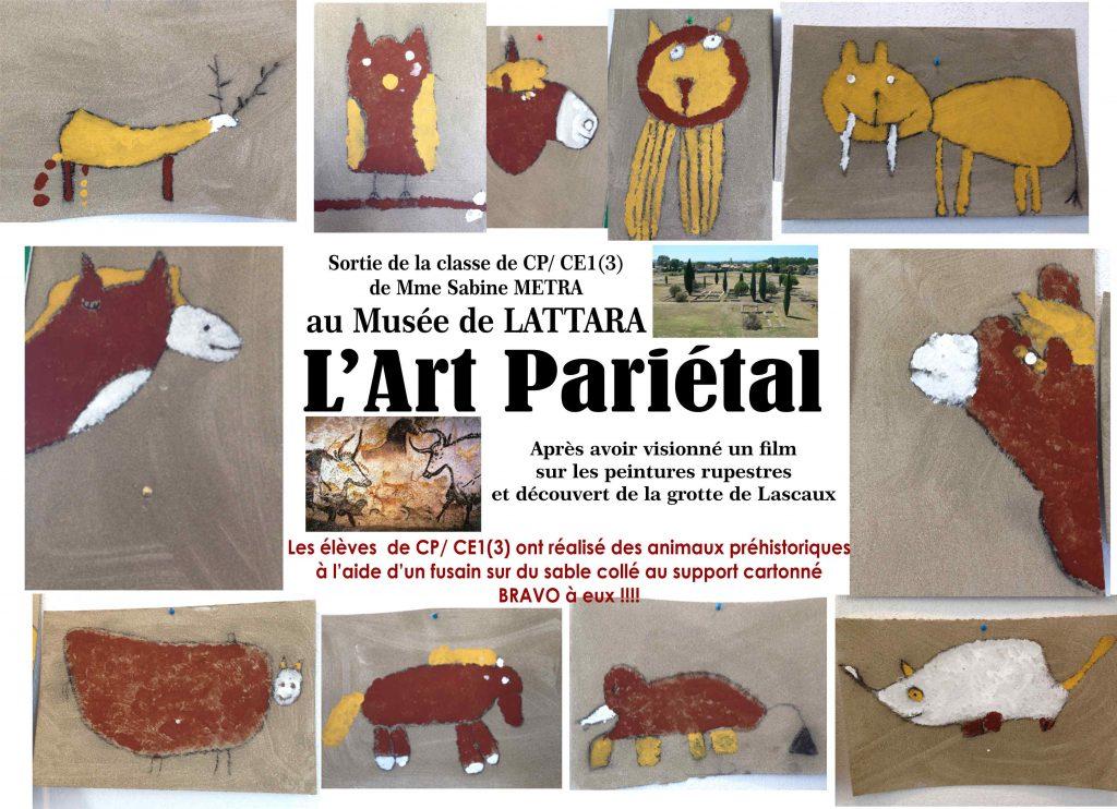 Classe de CP/CE1(3) de Sabine METRA au Musée LATTARA