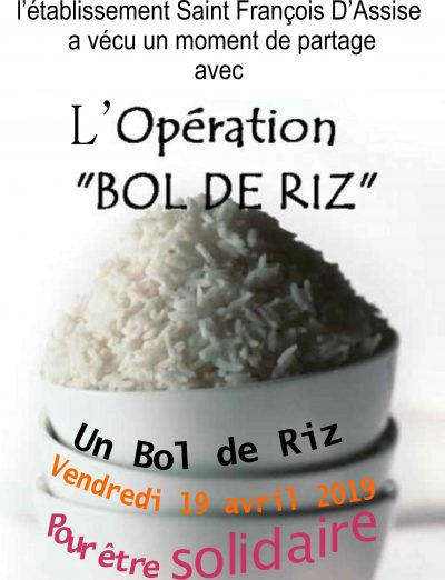 bol de riz affiche 2019