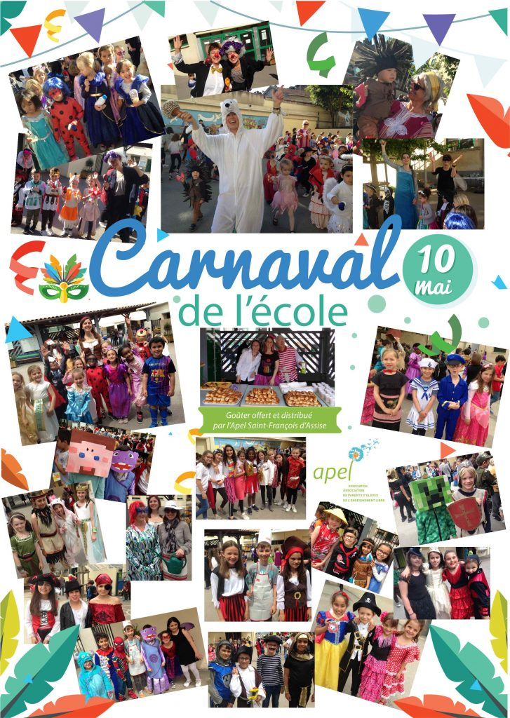 Vendredi 10 mai 2019 CARNAVAL de l'école
